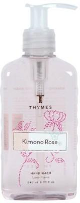 Thymes hand wash, kimono rose pump bottle