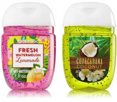 Bath & Body Works Fresh Watermelon Lemonade & Copacabana Coconut Hand Sanitizer(58 ml)