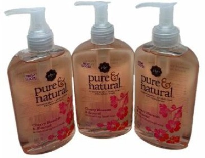 Pure & Natural hand soap, moisturizing cherry blossom and almond oil, pump (pack of 8)