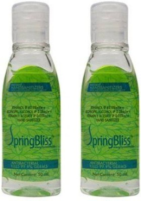 SpringBliss 50 ML Natural (Pack of 2) Hand Sanitizer(100 ml)