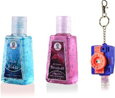 Bloomsberry Camera LED Holder with Aqua Bliss, Blossom Bouquet Hand Sanitizer