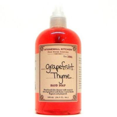 Stonewall Kitchen grapefruit thyme hand soap bottle