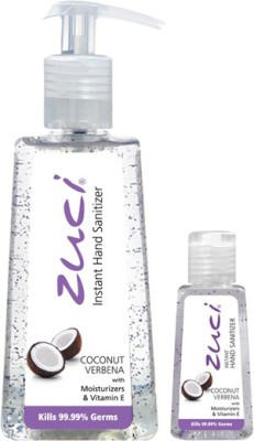 Zuci PACK OF 250 ML & 30 ML HAND SANITIZER- COCONUT VERBENA Hand Sanitizer