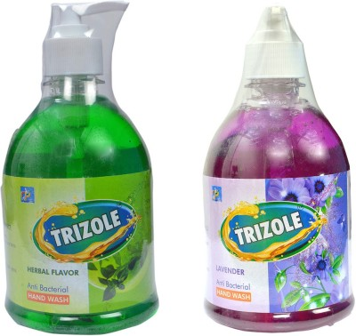 Trizole Herbal & Levender Flavor Anti bacterial Hand Wash(500 ml)