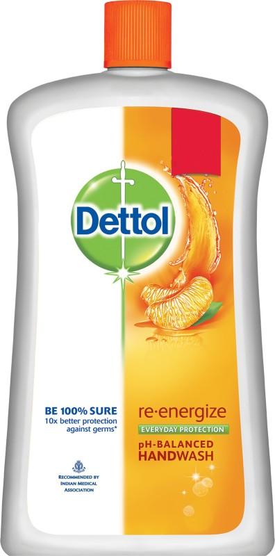Dettol Liquid Soap Jar - Re-energize Hand Wash(900 ml)