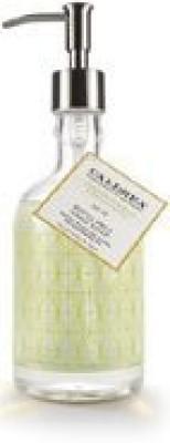 Caldrea ginger pomelo refillable hand soap in glass bottle