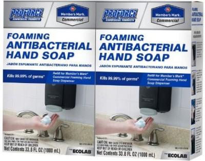 Member's Mark proforce/members mark commercial foaming antibacterial hand soap 2 pack refills