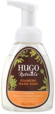 Hugo Naturals foaming hand soap, vanilla and sweet orange