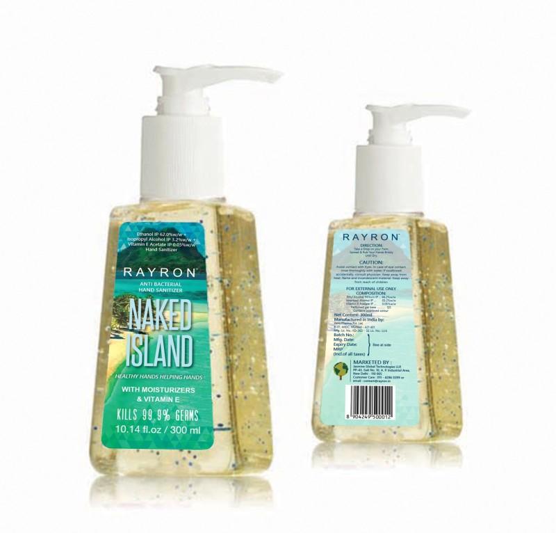 Rayron Naked Island 300ml Hand Sanitizer(300 ml)