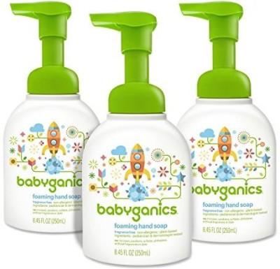 Babyganics foaming hand soap, fragrance free pump bottle (pack of 3)