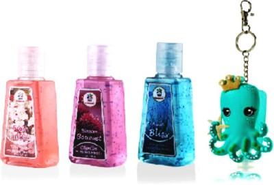 Bloomsberry Octopus LED holder,3 fragrances Hand Sanitizer