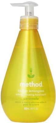 Method kitchen hand wash, lemongrass, 18 pump bottle (pack of 3)