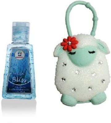 Bloomsberry Lamb Designer Holder With Aqua Bliss Hand Sanitizer
