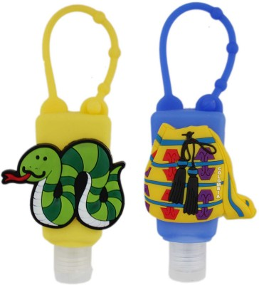 Tootpado Silicone Holder for Kids (Pack of 2) - 1p237 - Empty Bottle for Shampoo, Face, Hand Wash & Hand Sanitizer