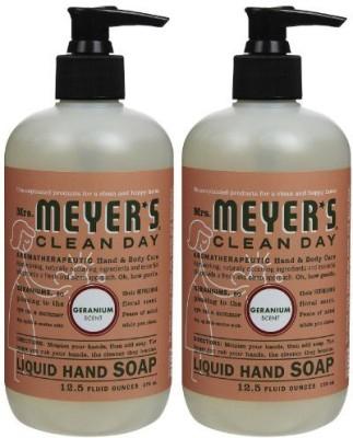 Mrs. Meyers geranium liquid hand soap