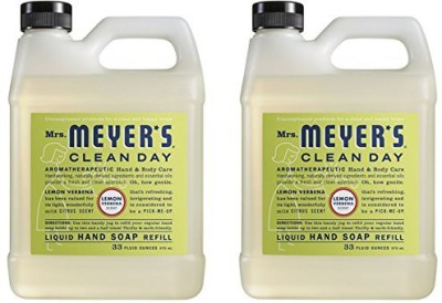 Mrs. Meyers mrs. meyer's liquid hand soap refill, lemon verbena, 33 fluid ounce - 2 pack