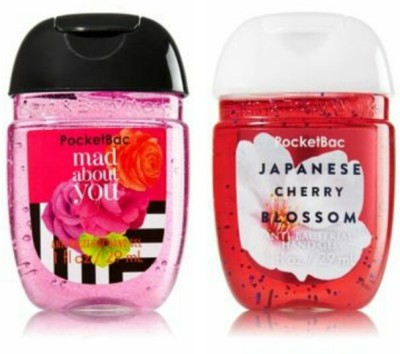 Bath & Body Works Japanese Cherry Blossom & Mad About You Hand Sanitizer(58 ml)