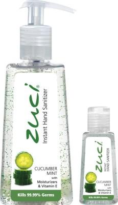 Zuci PACK OF 250 ML & 30 ML HAND SANITIZER- CUCUMBER MINT Hand Sanitizer