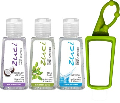 Zuci 30 ML COCONUT VERBENA, TULSI AND NATURAL HAND SANITIZER WITH BAG TAG Hand Sanitizer