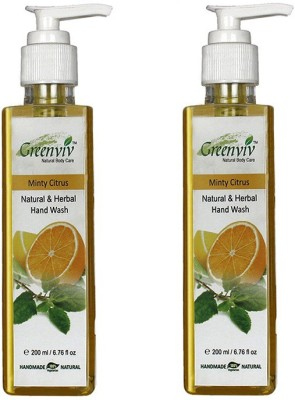 Greenviv Natural & Herbal - Minty Citrus Hand Wash