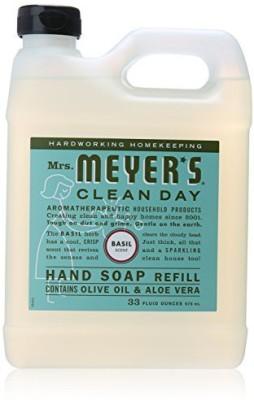 Mrs. Meyer's Clean Day liquid hand soap refill, 33 , basill, 2 pk