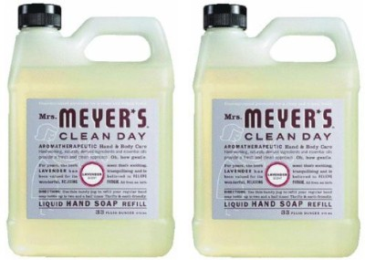 Mrs. Meyers earth friendly, liquid hand soap refill lavender scent- (2 pack)