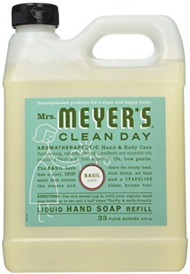 S C JOHNSON mrs meyer's clean day 33 basil soap refill 14461 hand & bath soap