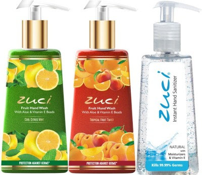 Zuci COOL CITRUS & TROPICAL HANDWASH WITH NATURAL HAND SANITIZER Hand Wash