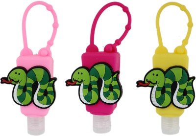 Tootpado Silicone Holder for Kids (Pack of 3) - 1p209 - Empty Bottle for Shampoo, Face, Hand Wash & Hand Sanitizer