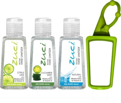 Zuci 30 ML CITRUS LIME, CUCUMBER MINT, AND NATURAL HAND SANITIZER WITH BAG TAG Hand Sanitizer