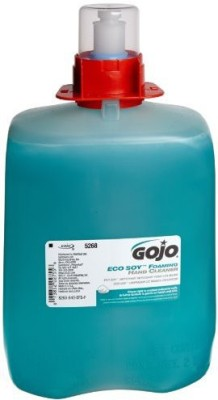 Gojo 5268-03 dpx eco soy foaming hand cleaner, refill, blue-green (pack of 3)