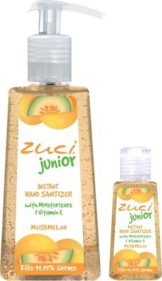 Zuci Pack Of 250 Ml & 30 Ml Hand Sanitizer- Musk Melon Hand Sanitizer