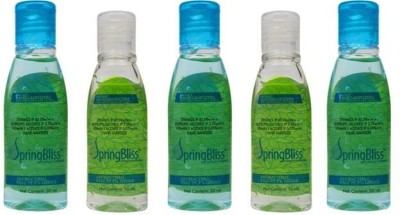 SpringBliss 50 ML (Pack of 5) Hand Sanitizer(250 ml)