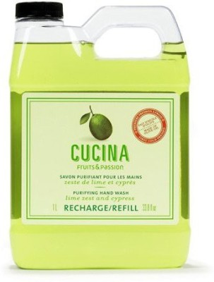 Fruits and Passion Cucina fruits and passion's cucina purifying hand wash refill lime zest and cypress