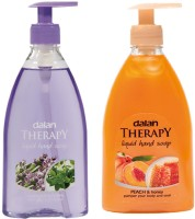 Dalan Therapy Liquid Soap Combo Pack of Lavendar & Thyme Peach & Honey(800 ml)