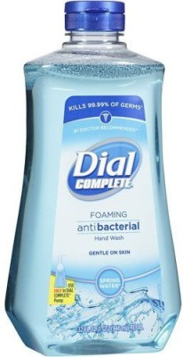 Dial complete spring water foaming antibacterial hand wash refill, 32