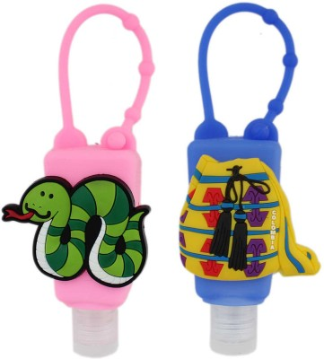 Tootpado Silicone Holder for Kids (Pack of 2) - 1p234 - Empty Bottle for Shampoo, Face, Hand Wash & Hand Sanitizer