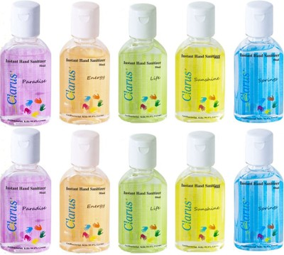 Clarus 50 ml Pack of 10 Hand Sanitizer