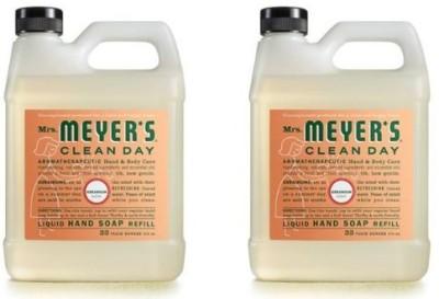Mrs. Meyers mrs. meyer's clean day liquid hand soap refill, geranium, 33 fl - 2 pack