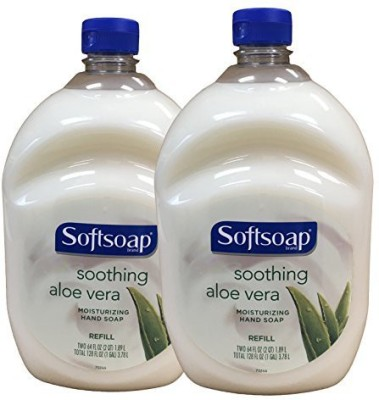 Softsoap hand soap soothing aloe vera moisturizing hand soap refill pack 2