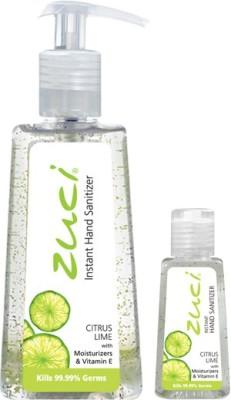 Zuci PACK OF 250 ML & 30 ML HAND SANITIZER- CITRUS LIME Hand Sanitizer