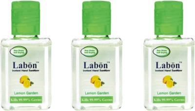 Labon Instant - Combo Pack of 3 - 15ML Lemon Garden (15 ML x 3 Packs) Hand Sanitizer