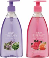 Dalan Therapy Liquid Soap Combo Pack of Lavender & Thyme and Wild Roses & Almond Oil(800 ml)