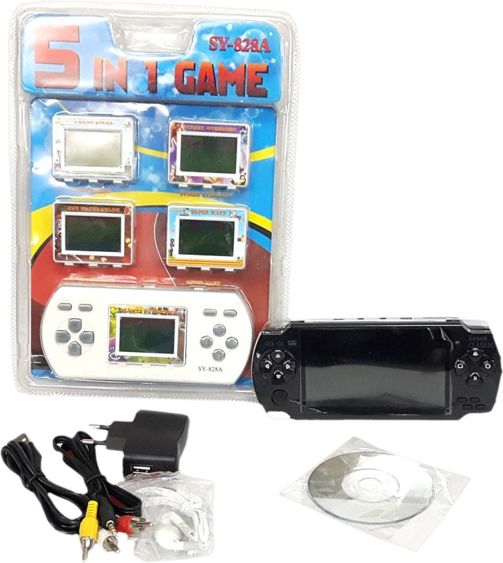 Lotus 5 in 1 Handheld Gaming Console(Multicolour)