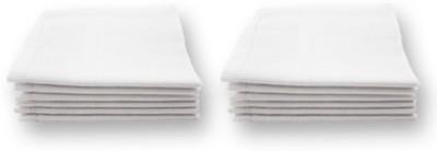 Miscreef Plain White Men's 100% Cotton Handkerchief