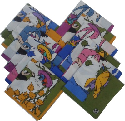 SaifeeSons Kids Cartoon Characters Handkerchief