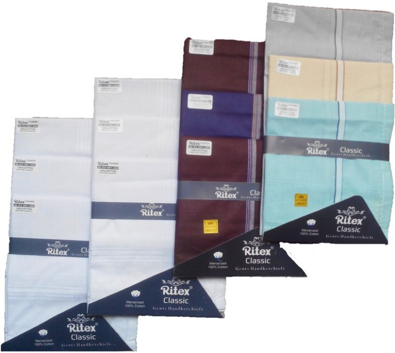 Ritex Classic-6ww-3lb-3db Handkerchief(Pack of 12)