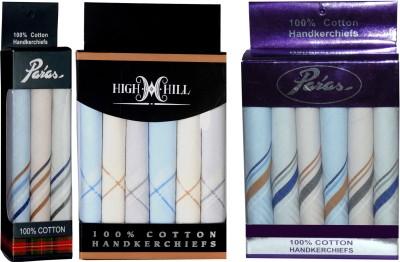HighHill Men's 100 % Cotton Hanky Handkerchief