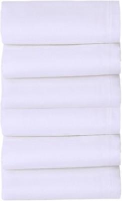 Smart Zone Pure White Men,S Rich Cotton Handkerchief