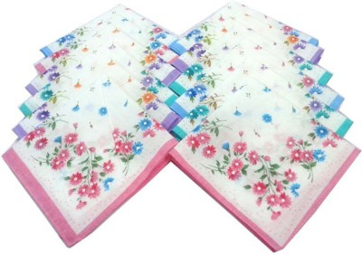 Globalgifts Flower Design Handkerchief